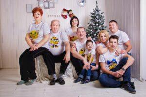 Семейные футболки с печатью